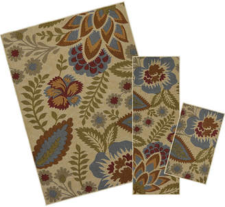 Mohawk Home Soho Crewel Floral Rectangular 3-pc. Rug Set