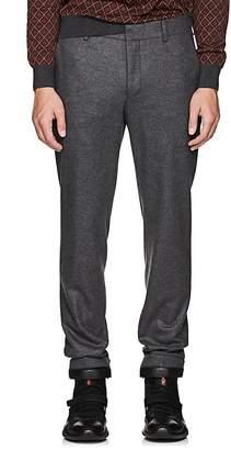 Prada Men's Flat-Front Wool Trousers