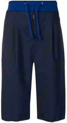 Maison Margiela panelled drop-crotch shorts