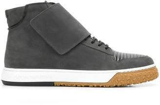 Emporio Armani hi-top strap sneakers
