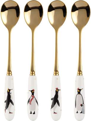 Spode Christmas Penguin Teaspoons, Set of 4