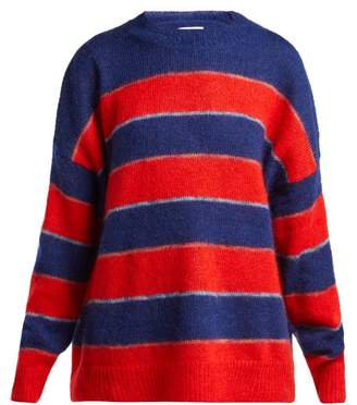 Etoile Isabel Marant Reece Striped Mohair Blend Sweater - Womens - Red Multi