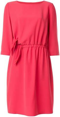 Emporio Armani tie detail shift dress