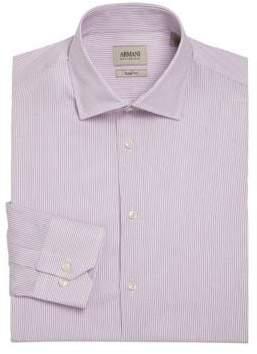 Giorgio Armani Slim-Fit Striped Dress Shirt