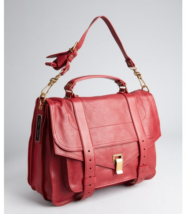 Proenza Schouler red leather 'PS1' large satchel