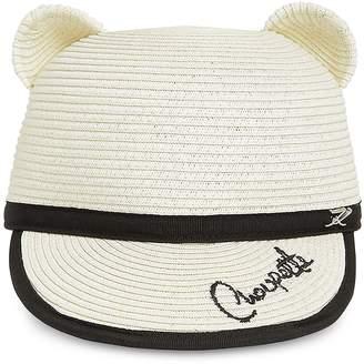 d2394793b21235 Karl Lagerfeld Paris Choupette Natural Straw Ears Cap