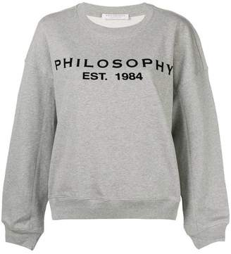Philosophy di Lorenzo Serafini printed logo sweatshirt