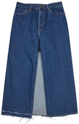 Miharayasuhiro Blue Cropped Wide-leg Jeans