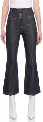 Ellery Hemisphere Cropped Flared Jeans