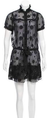 Anna Sui Short Sleeve Mini Dress