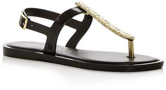Melissa Women's Embellished Slim T-Strap Thong Sandals