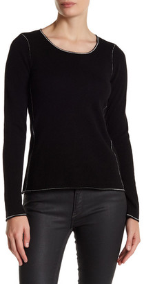 In Cashmere Contrast Stitch Cashmere Sweater $240 thestylecure.com