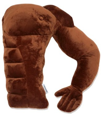 Boyfriend Pillow - Black Man - Boyfriend Muscle Man Arm Plush Cotton Pillow - Brawny & Strong