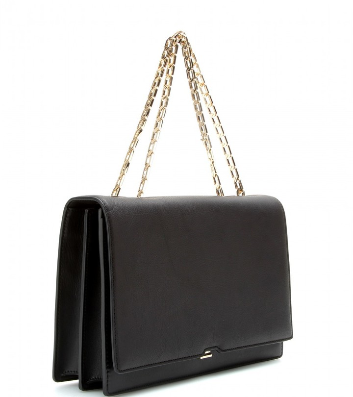 Victoria Beckham Hexagonal Chain leather shoulder bag