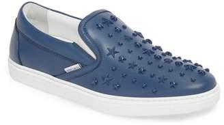 Jimmy Choo Grove Star Embellished Slip-On Sneaker