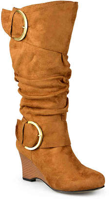 c8cca76b27db Journee Collection Irene-1 Extra Wide Calf Wedge Boot - Women s