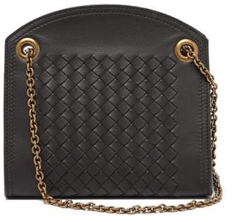 Bottega Veneta Intrecciato Leather Cross Body Bag - Womens - Black