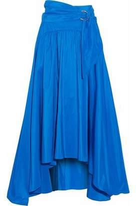 Peter Pilotto Woman Pleated Color-block Cotton-pplin Midi Skirt Turquoise Size 8 Peter Pilotto Buy Cheap View For Sale Cheap Authentic Original DP61GA