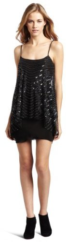 Twelfth St. By Cynthia Vincent Beaded Swing Mini Dress