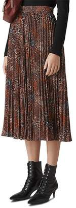 Whistles Abstract Animal Pleated Skirt