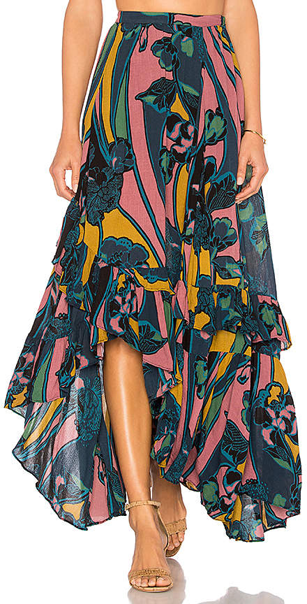Free People Bring Back The Summer Maxi Skirt in Black