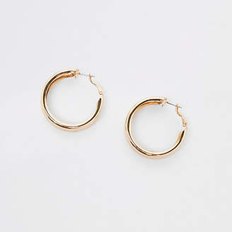River Island Gold tone chunky hoop earrings