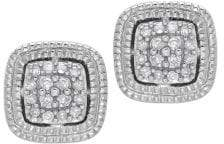 Lord & Taylor Diamond and Sterling Silver Stud Earrings