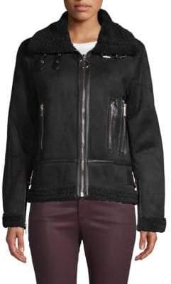 philosophy Faux Fur Moto Jacket