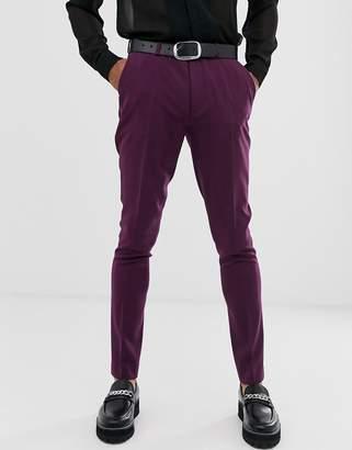 Asos Design DESIGN wedding super skinny suit trousers in purple