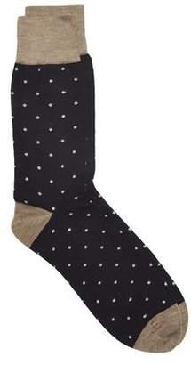 Corgi Spot Socks in Navy