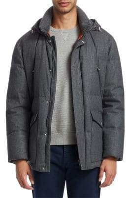 Brunello Cucinelli Padded Long-Sleeve Jacket