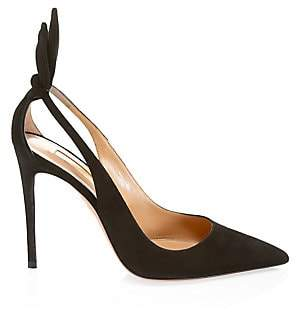 Aquazzura Women's Deneuve Suede Pumps