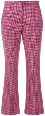 MSGM cropped patterned trousers