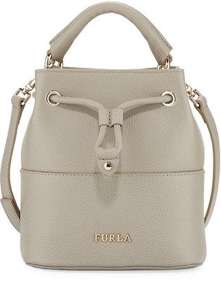 Furla Brooklyn Mini Leather Drawstring Bucket Bag $215 thestylecure.com
