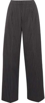 Jacquemus Striped Wool Wide-leg Pants - Gray