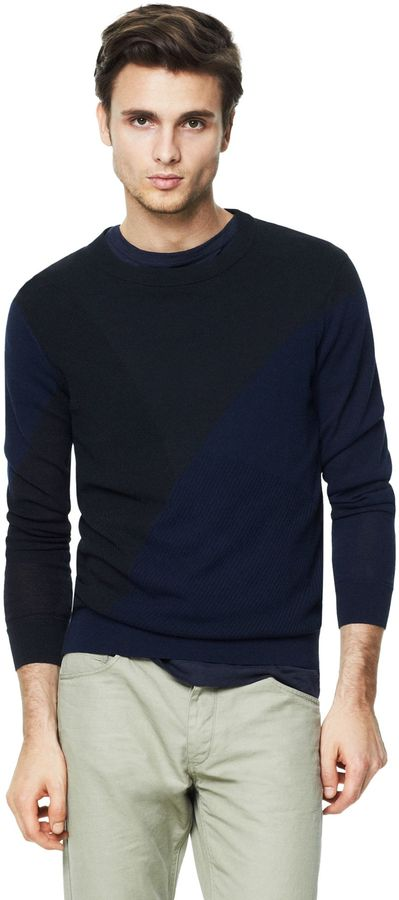 Theory Goran Sweater in Chassis Cotton