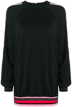 NO KA 'OI No Ka' Oi stripe trim sweatshirt