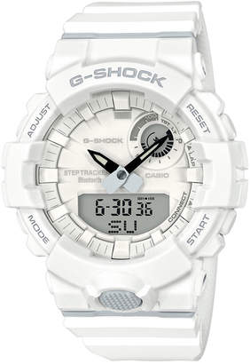 G-Shock Men's Analog-Digital White Resin Strap Step Tracker Watch 48.6mm