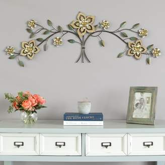 Stratton Home Decor Over-The-Door Floral Wall Decor