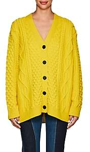 Marc Jacobs Women's Cable-Knit Chunky Cardigan - Yellow