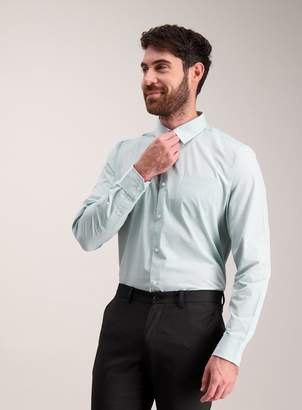 Tu Mint Check Tailored Fit Shirts 2 Pack