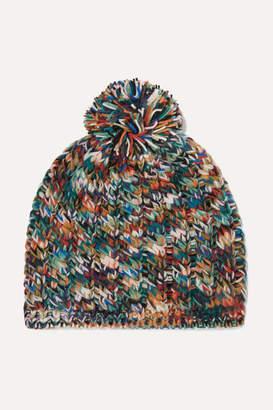 Missoni Pompom-embellished Wool-blend Beanie - Navy