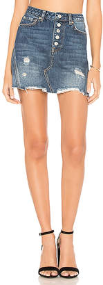 Free People Denim A-Line Mini Skirt.