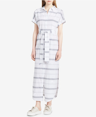 Calvin Klein Jeans Cotton Striped Shirtdress $89.50 thestylecure.com