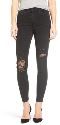 Women's Joe's Flawless Charlie Lace Patch Ankle Skinny Jeans $198 thestylecure.com