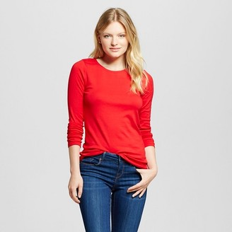 Merona Women's Fitted LS Crew T-Shirt $10 thestylecure.com