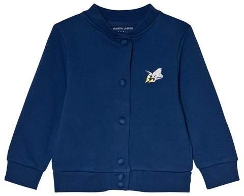Maison Labiche Blue Teddy Explorer Cardigan