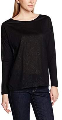 Mexx Women Tshirt Long Sleeve T-Shirt, (Black), X-Small