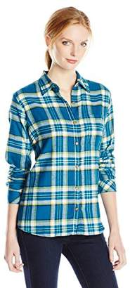 Dickies Women's Long-Sleeve Plaid Flannel Shirt