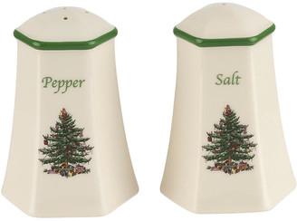 Spode Christmas Tree Salt & Pepper Set - White/Green